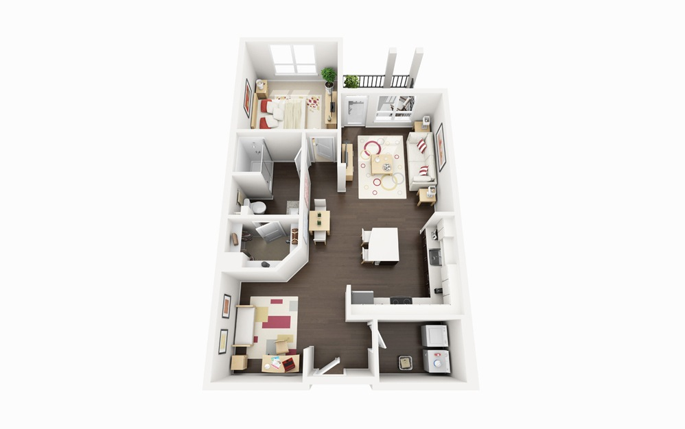 A3 - 1 bedroom floorplan layout with 1 bath and 849 square feet.